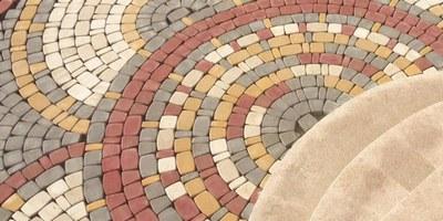 укладка тротуарной плитки круг