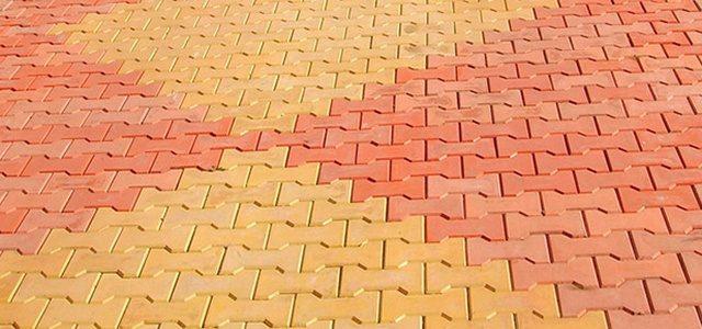 Укладка тротуарной плитки «Катушка»