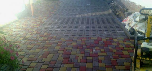 Из последних работ 2016 по укладке тротуарной плитки в Харькове