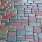 Фирменная укладка плитки Старый город март 2017